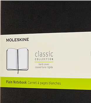 carnet pages blanches Moleskine
